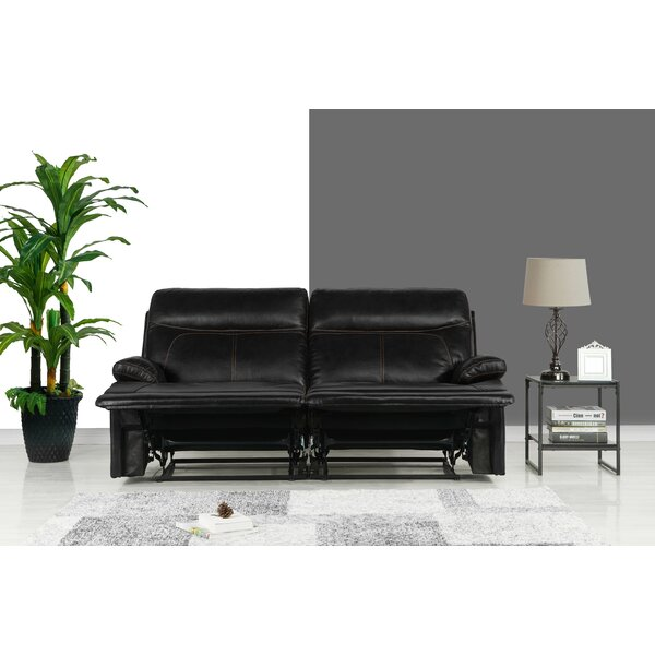 Our Recommended Roesch Leather Reclining Loveseat by Red Barrel Studio by Red Barrel Studio