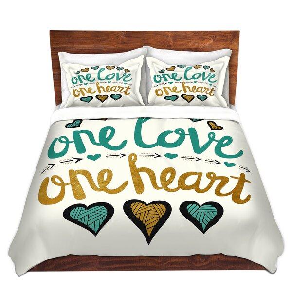One Love One Heart Golds Duvet Cover Set