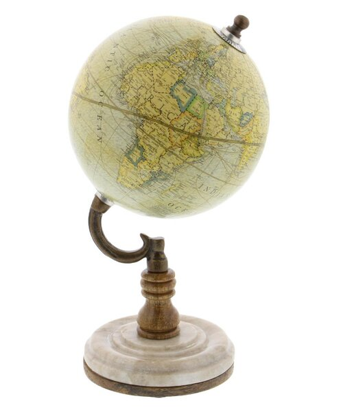 Old World Metal Globe by Three Posts