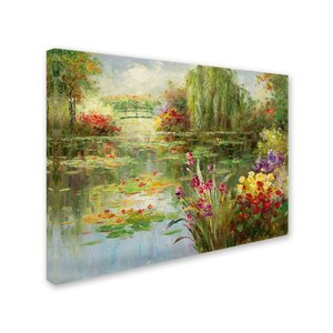 Water Lilies by Victor Giton Painting Print on Canvas by Trademark Fine Art
