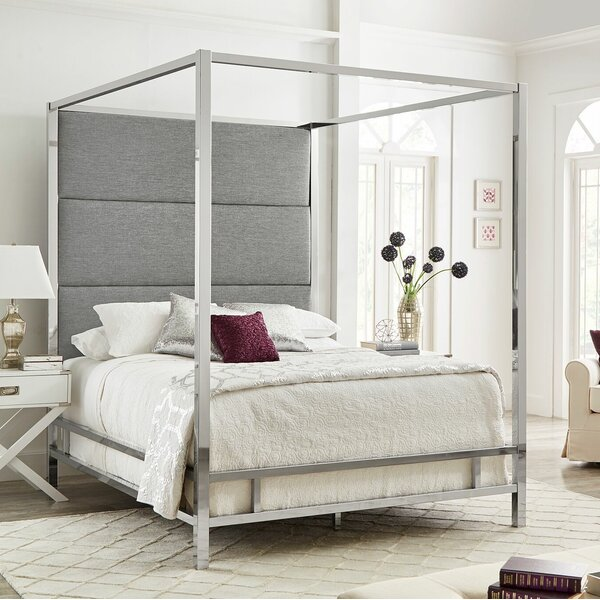 Moyers Upholstered Canopy Bed By Mercury Row by Mercury Row