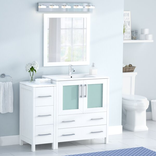 Karson 42 Single Bathroom Vanity Set with Mirror by Wade Logan