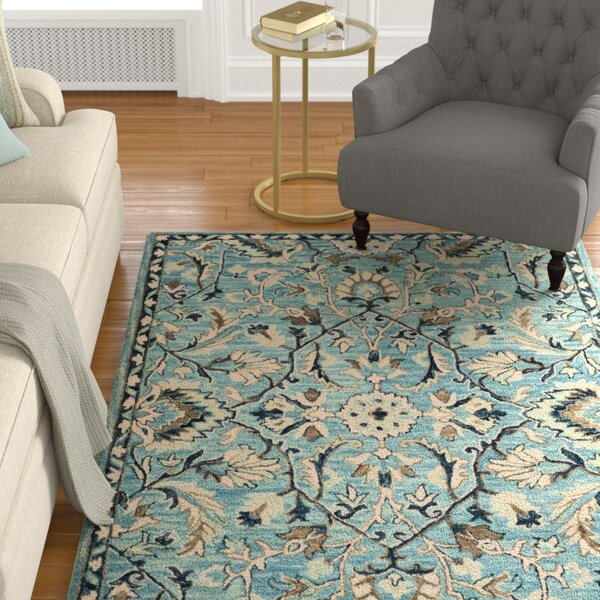 Homestead Hand-Woven Wool Blue Area Rug by Charlton Home