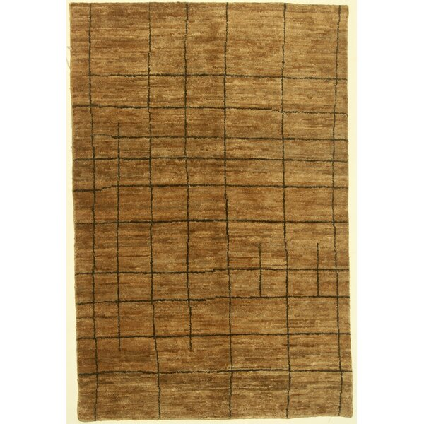 One-of-a-Kind Cormac Moroccan Hand-Knotted Beige Area Rug by Isabelline