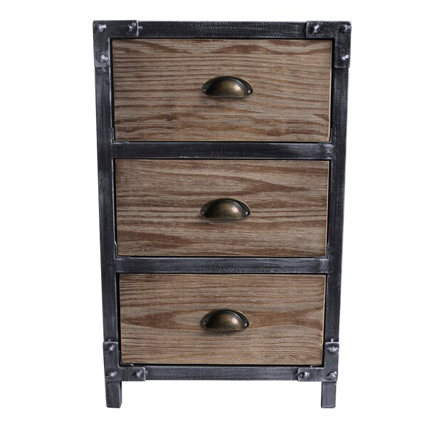 Kira 3 Drawer Nightstand by 17 Stories