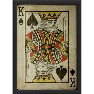 King of Spades Framed Graphic Art by The Artwork Factory
