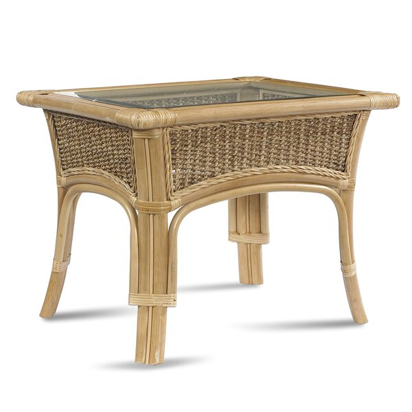 Tropical Breeze Glass Side Table by ElanaMar Designs