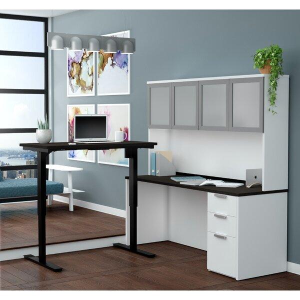 Hartleton L-Shape Corner Desk with Hutch by Latitude Run