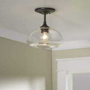 Good Salter 1 Light Semi Flush Mount