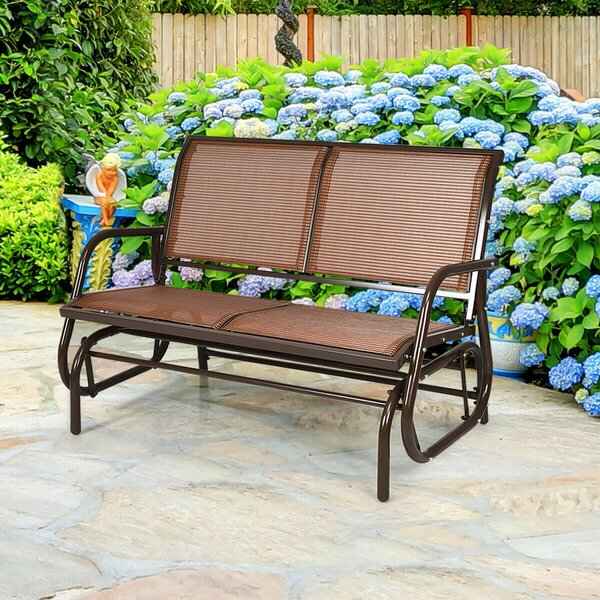 Longdale Steel Glider Bench by Latitude Run