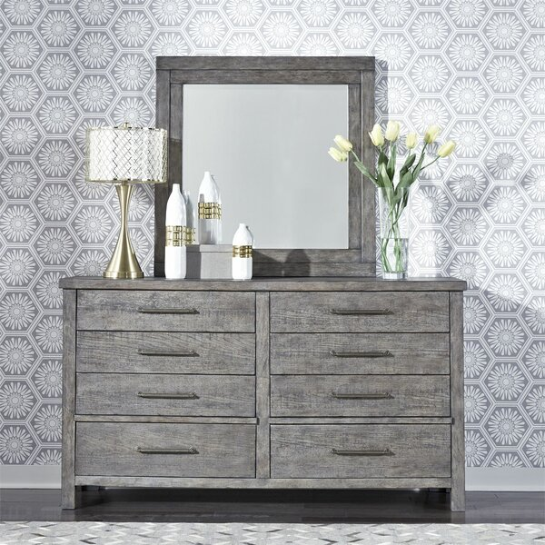 Cortinas 8 Drawer Dresser with Mirror by Gracie Oaks