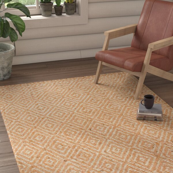 Jasiah Hand-Woven Natural Area Rug by Union Rustic