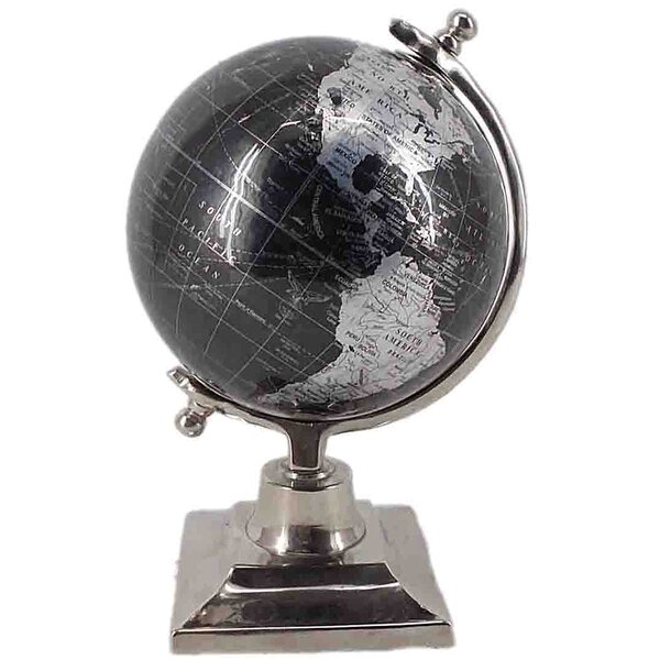 Aluminum and Plastic Wanderlust Globe on Stand by Charlton Home