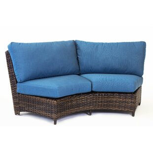 Losey Curved Loveseat with Cushion by Rosecliff Heights