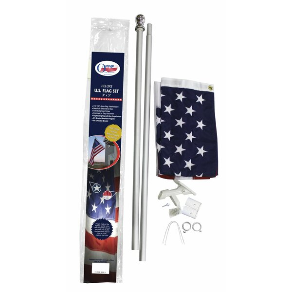 Traditional Flag and Flagpole Set by Olympus Flag and Banner