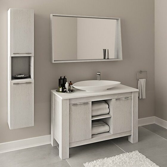 Riemer 47 Single Bathroom Vanity Set with Mirror by Orren Ellis