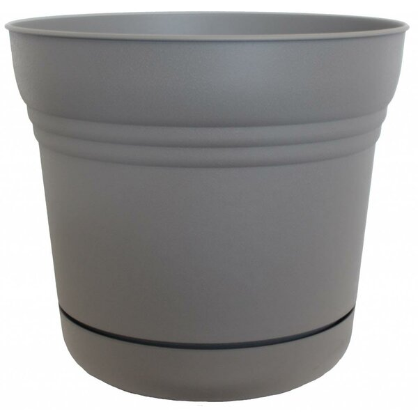 Plastic Pot Planter with Saucer by Bloem