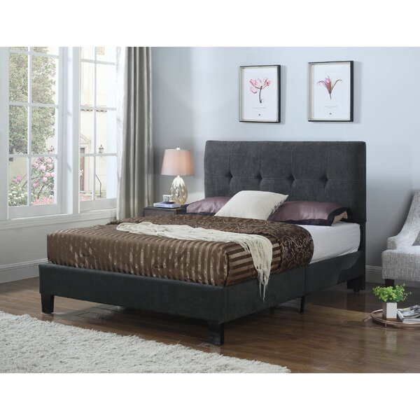 Borum Upholstered Standard Bed by Wrought Studio