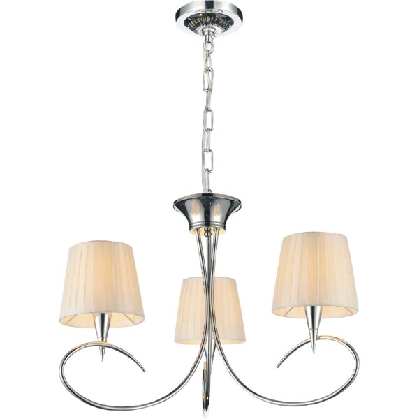 Lonegan 3 - Light Shaded Classic / Traditional Chandelier By Charlton Home