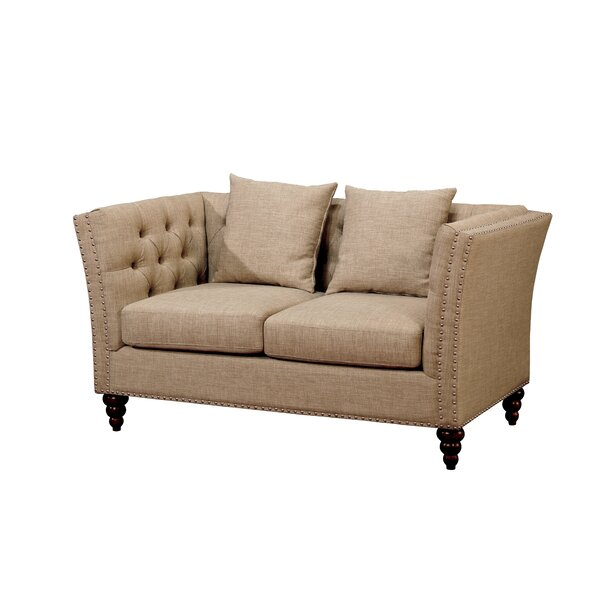 Bolingbrook Chesterfield Loveseat by Darby Home Co