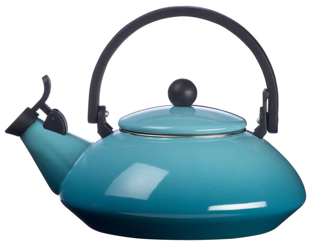 le creuset enamel on steel 1.6 qt zen tea kettle & reviews | joss & main