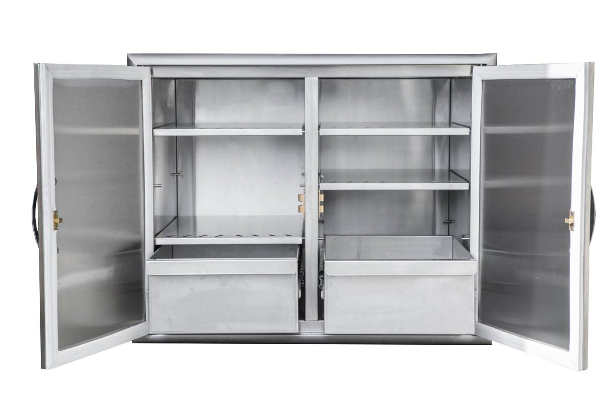 barbeques galore stainless steel dry storage cabinet & reviews