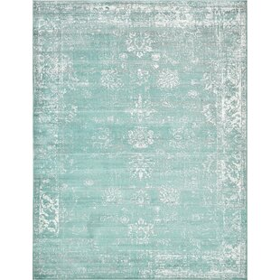 Best Brandt Turquoise/White Area Rug By Mistana
