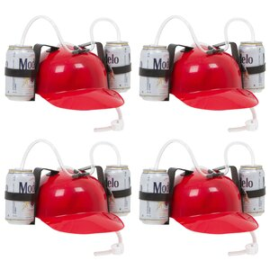 Beer and Soda Guzzler Drinking Hat (Set of 4)