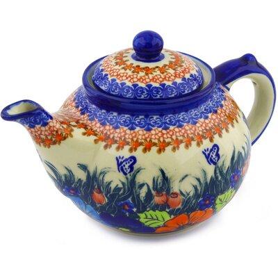Polish Pottery 1.625-qt. Teapot by Polmedia
