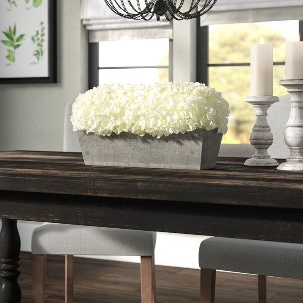 Hydrangeas Centerpiece in Planter by Laurel Foundr