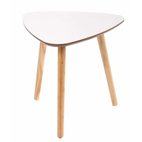 Saur Solid Wood 3 Legs End Table By Wrought Studio