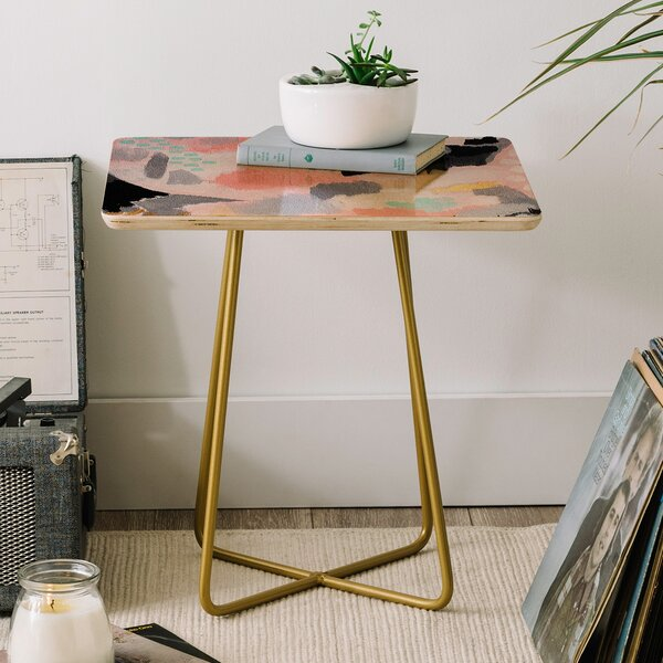 Laura Fedorowicz Serenity Abstract End Table by East Urban Home East Urban Home