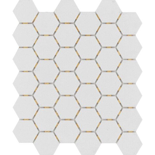 Zone Hex 2 x 2 Porcelain Mosaic Tile in Matte Gray by Emser Tile