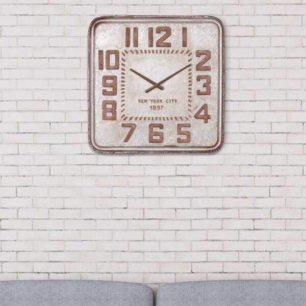Oversized Micky Retro Industrial Wall Clock by Williston Forge