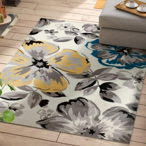 Regner Cream/Gray Area Rug by Andover Mills