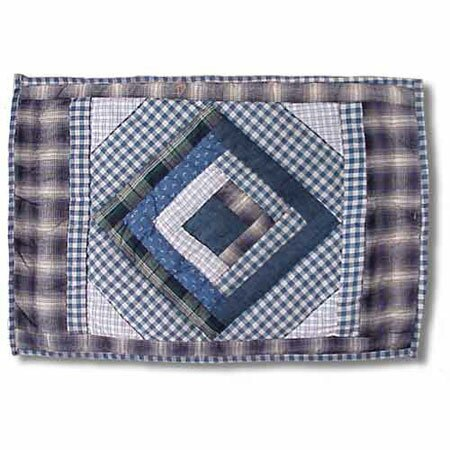 Blue Log Cabin Placemat (Set of 4) by Patch Magic