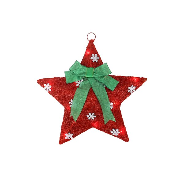 Sisal Hanging Christmas Star Window Decoration with Bow by Northlight Seasonal
