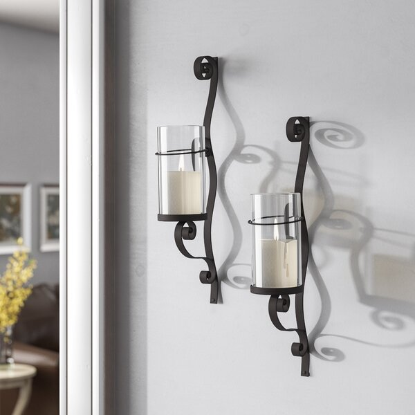 Iron Wall Sconce Candle Holder (Set of 2) by Red Barrel Studio
