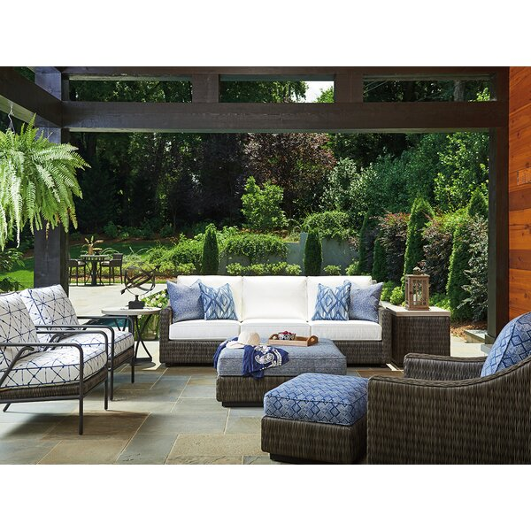 Cypress Point Ocean Terrace 5 Piece Sofa Seating Group with Cushions by Tommy Bahama Outdoor