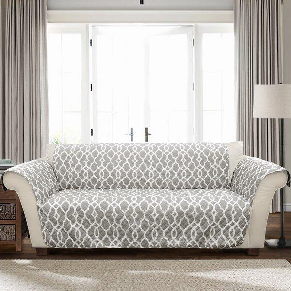 Geo 3 T-Cushion Sofa Slipcover By Charlton Home