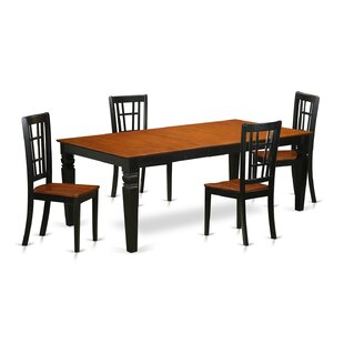 Beesley 5 Piece Black/Cherry HardWood Dining Set By Darby Home Co