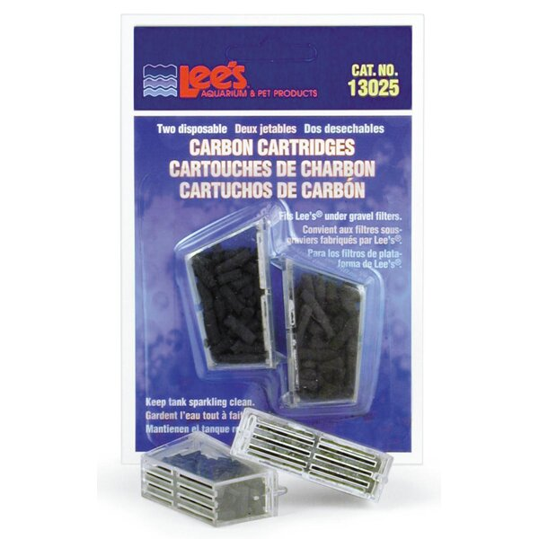 Disposable Carbon Cartridge (2 Pack) by Lees Aquarium & Pet