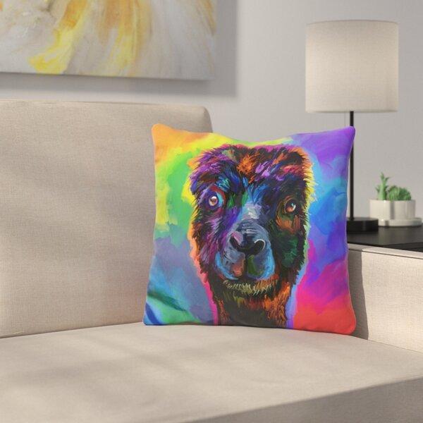 Alpaca Throw Pillow by East Urban Home