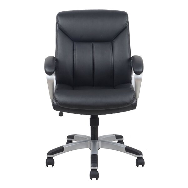 Kirkpatrick Leather Executive Chair by Winston Porter
