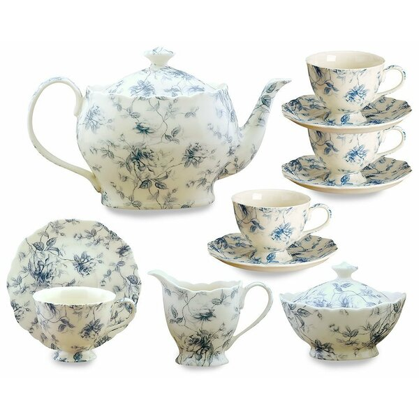 Kratz 11 Piece Porcelain China Tea Set by Ophelia & Co.