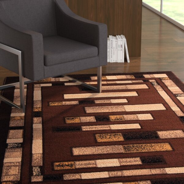 Hormazabal Brown Area Rug by Ebern Designs