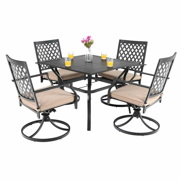Stockard 5 Piece Dining Set with Cushions by Charlton Home