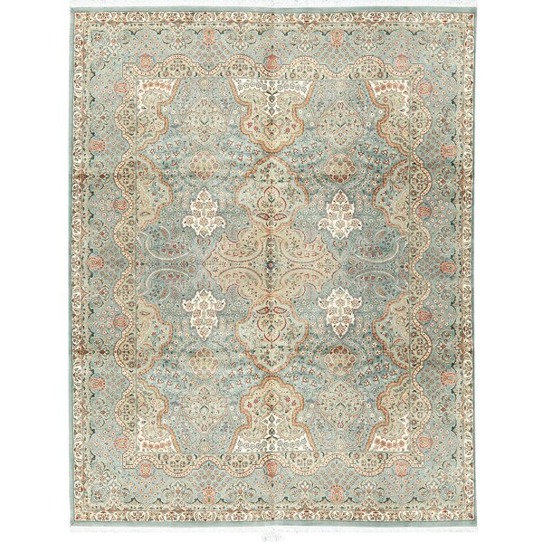 One-of-a-Kind Hand-Knotted Worsted Wool Light Blue Area Rug by Bokara Rug Co., Inc.