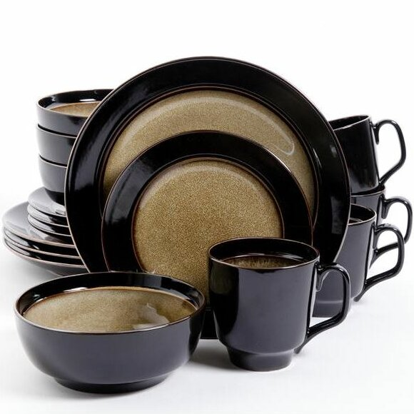Gibson Elite 16 Piece Dinnerware Set, Service for 4 by Gibson