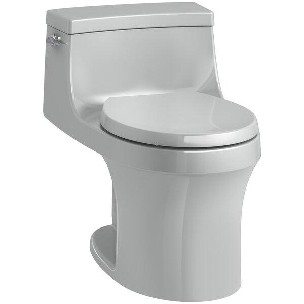 San Souci 1 Piece Round-Front 1.28 GPF Toilet with Aquapiston Flushing Technology by Kohler